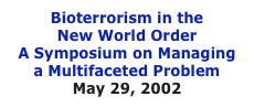 Bioterrorism in the 